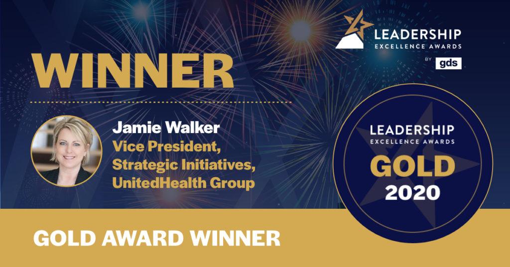 Jamie Walker - Gold Winner of the GDS Healthcare Leader of the Year North America 2020