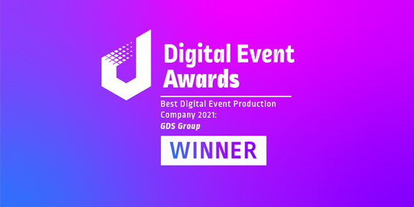 GDS Group, the global events and technological services organization is pleased to announce that it has been recognized for its excellence in event production at the 2021 'Digital Event Awards'.