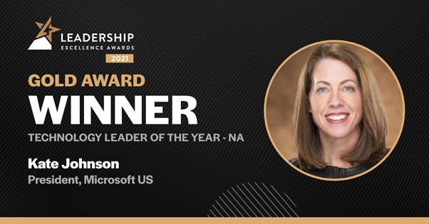 Kate Johnson awarded Technology of the year 2021
