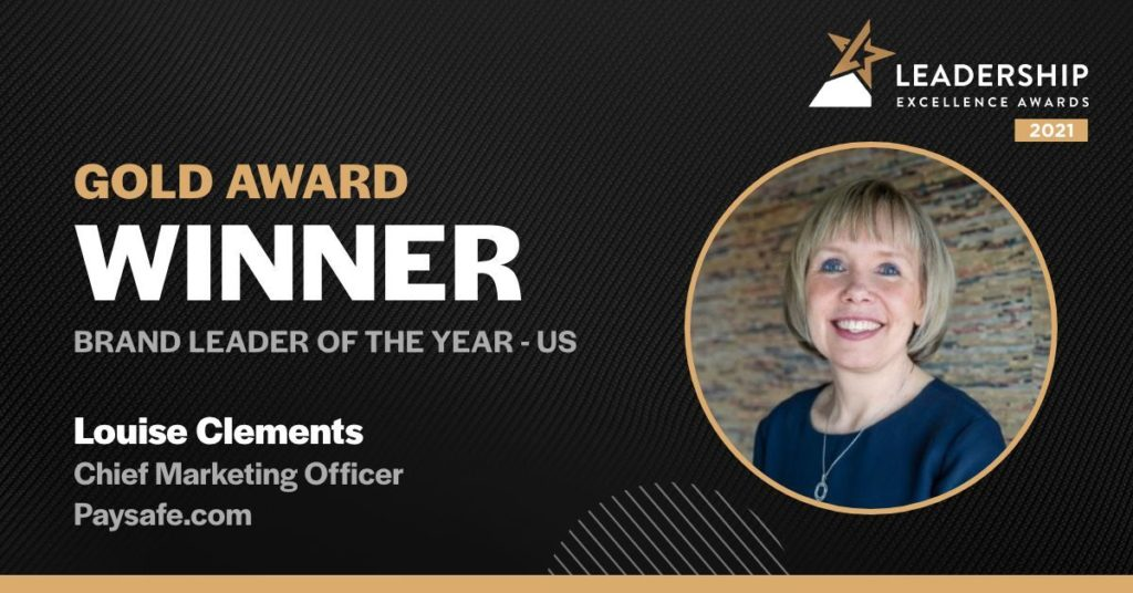Gold Award Winner Louise Clements CMO of Paysafe.com