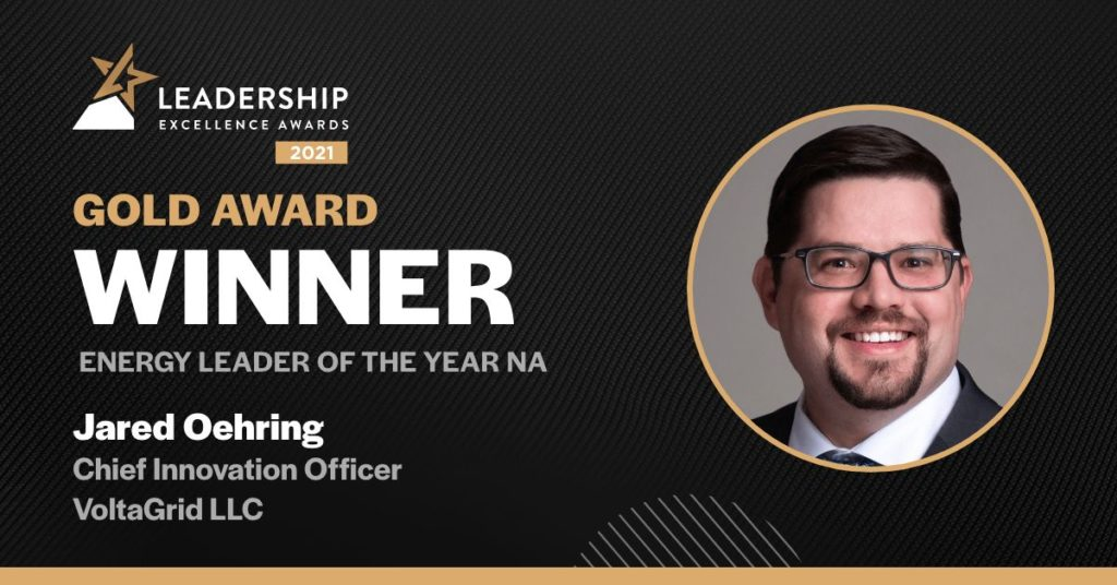 Jared Oehring - Energy Leader of the Year